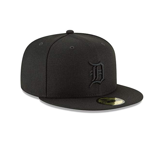 New Era Detroit Tigers 9FIFTY MLB Adjustable Snapback Hat / Black + Black - Pure Detroit