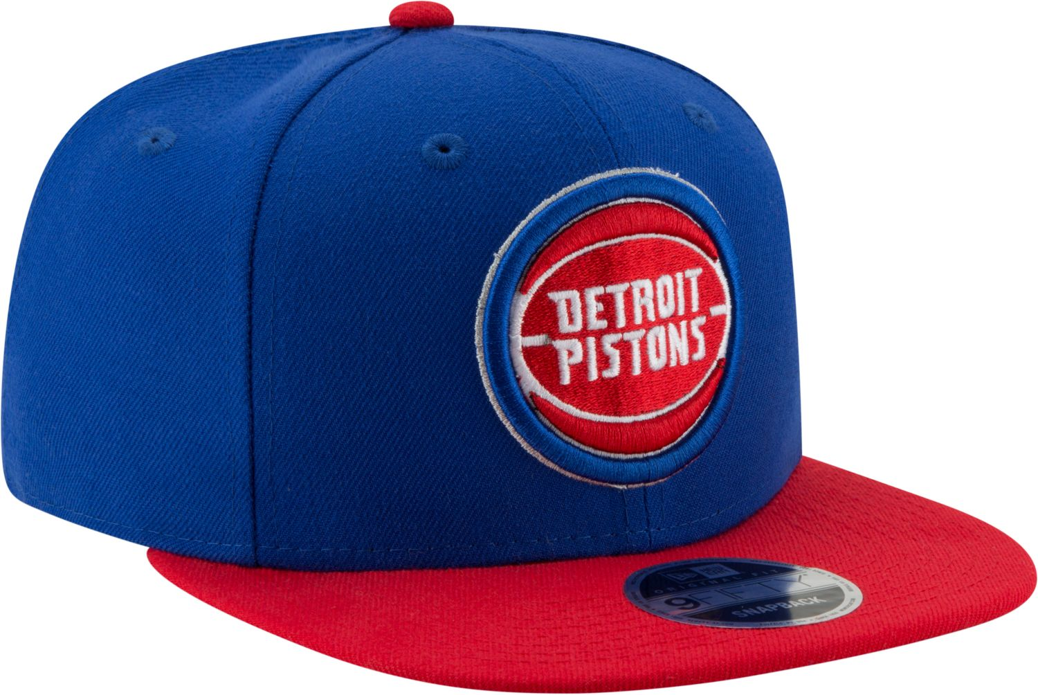 New Era Detroit Pistons 2Tone 9FIFTY NBA Adjustable Snapback Hat / Red + Blue