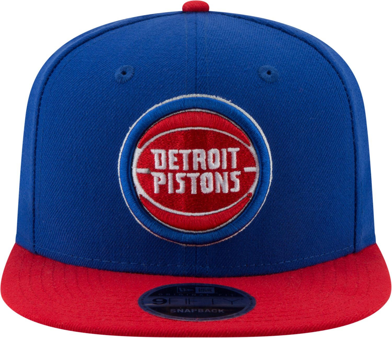 New Era Detroit Pistons 2Tone 9FIFTY NBA Adjustable Snapback Hat / Red + Blue - Pure Detroit