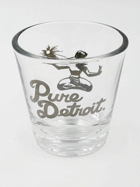 Pure Detroit 1.5 oz Shot Glass / Silver - Pure Detroit