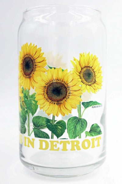 Goodness Grows in Detroit 16 oz Can Glass - Pure Detroit