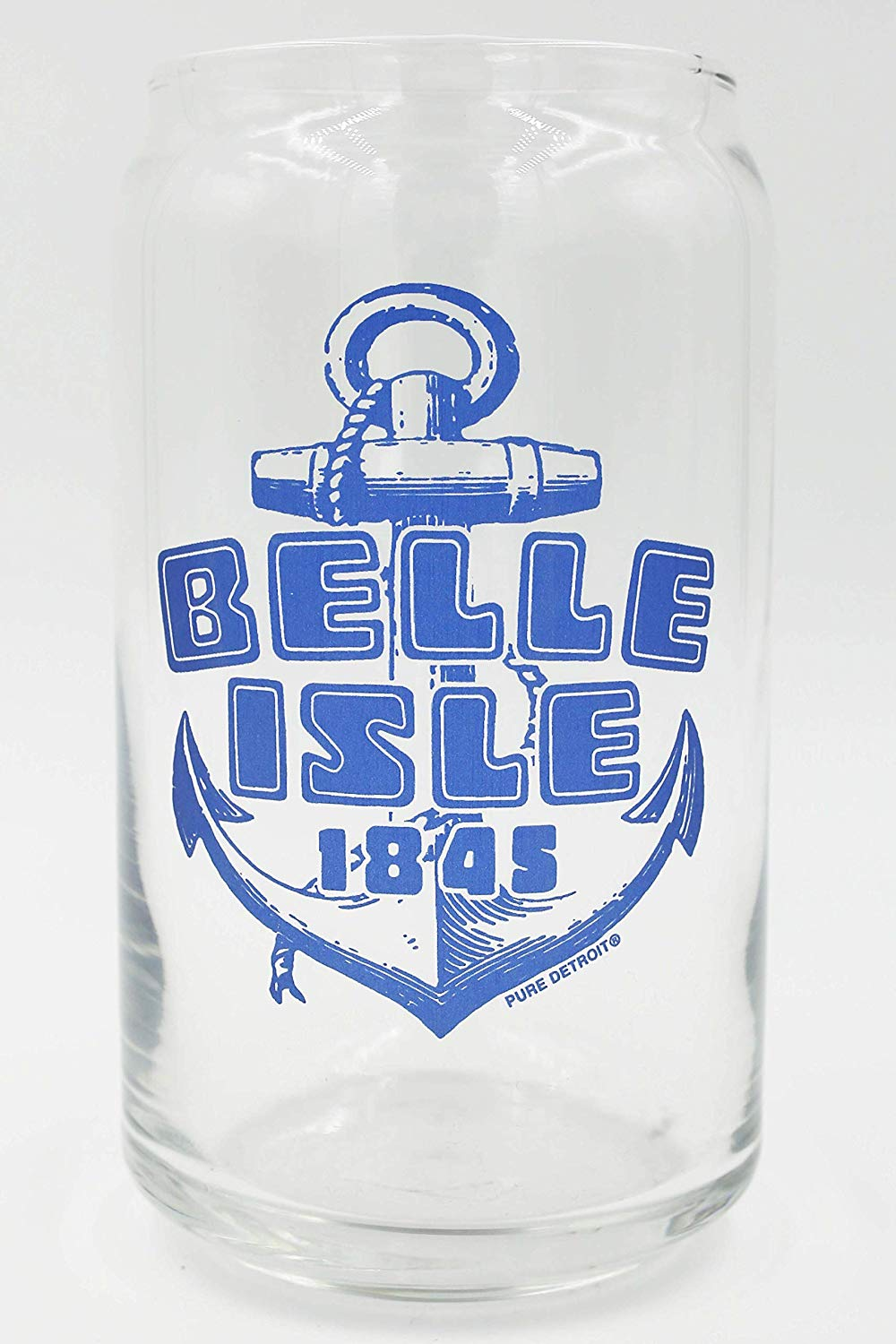 Belle Isle 16 oz Beer Can Glass - Pure Detroit