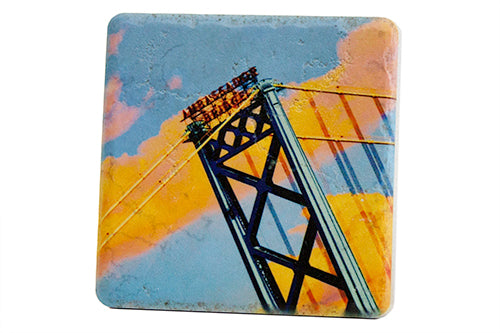 Ambassador Bridge Porcelain Tile Coaster