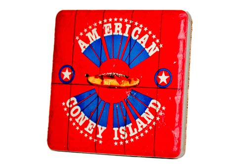 American Coney Island Porcelain Tile Coaster - Pure Detroit