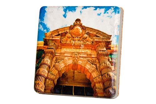 Belle Isle Aquarium Entrance Porcelain Tile Coaster