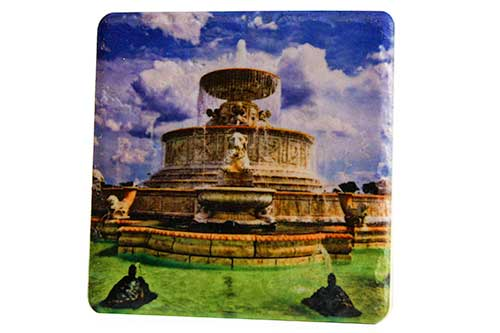 Belle Isle James Scott Memorial Fountain Porcelain Tile Coaster - Pure Detroit