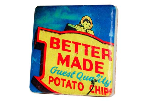Better Made Factory Sign Porcelain Tile Coaster - Pure Detroit