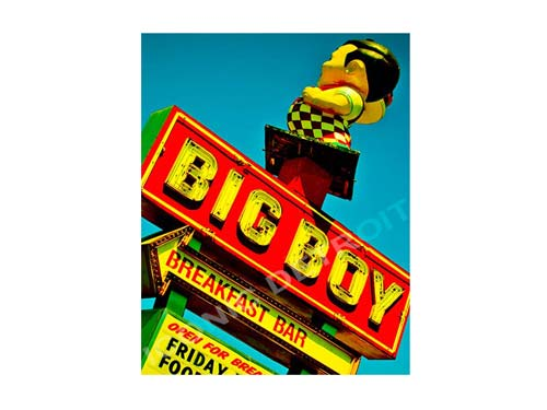 Big Boy Sign Luster or Canvas Print $35 - $430 - Pure Detroit