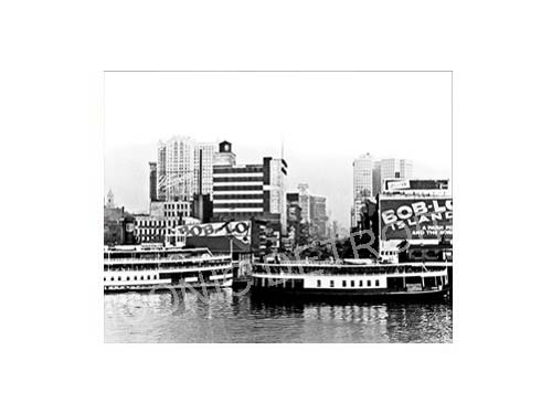 Historic Bob-Lo Island Dock Black and White Luster or Canvas Print $35 - $430 - Pure Detroit