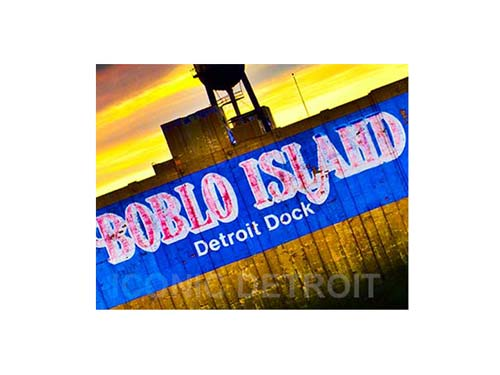 Bob-Lo Island Dock Luster or Canvas Print $35 - $430 - Pure Detroit