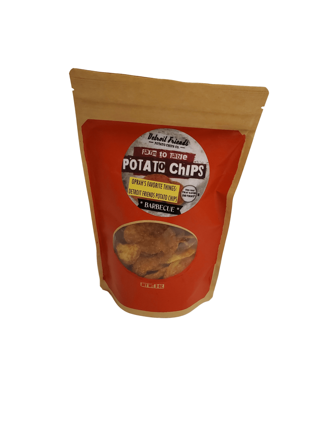 Detroit Friends Potato Chips - Barbeque - Pure Detroit