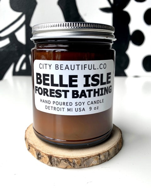 Belle Isle Forest Bathing - Hand Poured Soy Candle by City Beautiful . Co - 9oz. - Pure Detroit