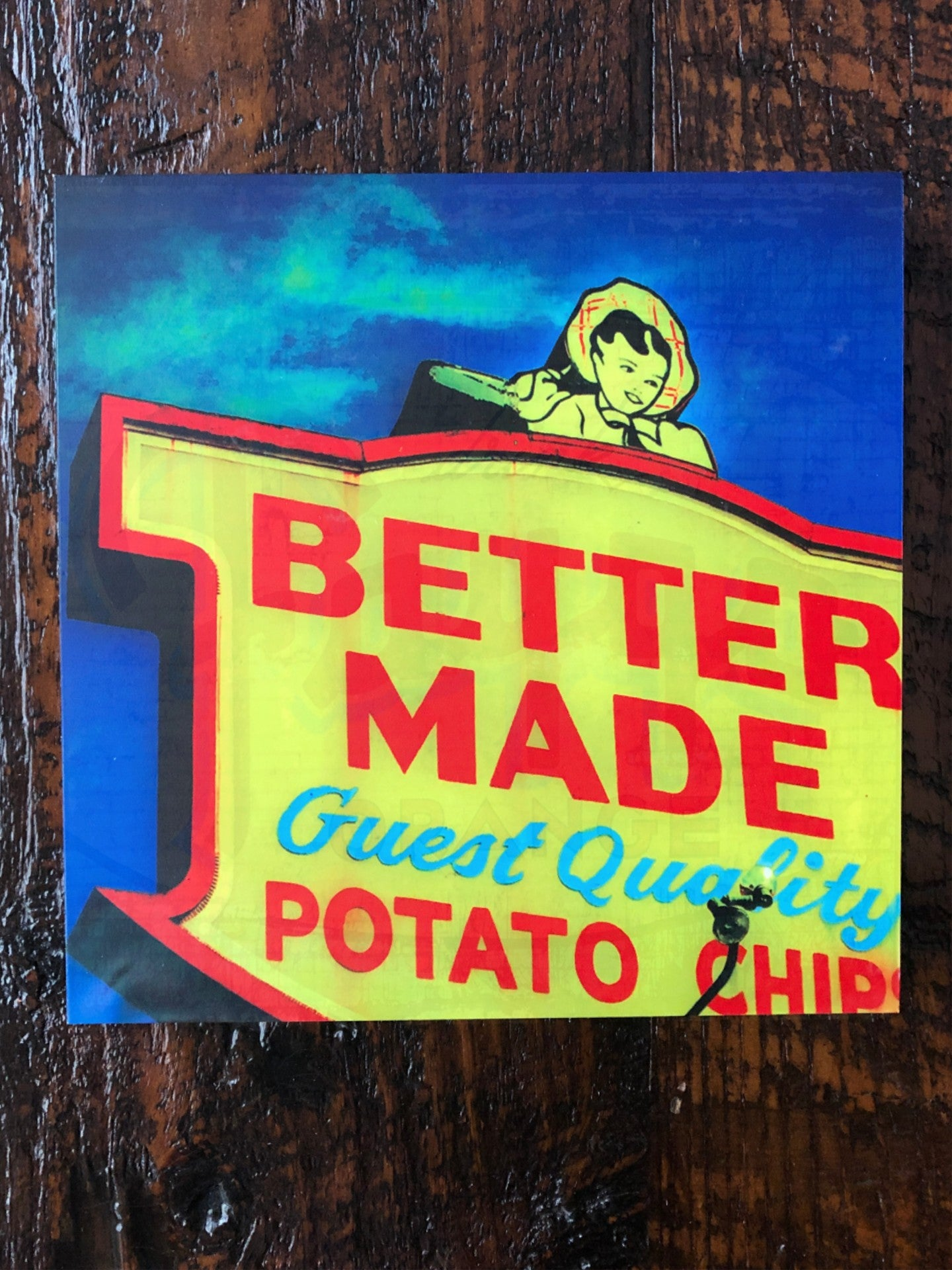 Better Made Woodblock Print - Pure Detroit