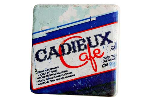 Cadieux Cafe Mural Porcelain Tile Coaster - Pure Detroit
