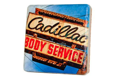 Cadillac Body Service Porcelain Tile Coaster - Pure Detroit