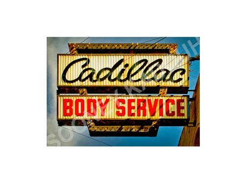Cadillac Body Service Luster or Canvas Print $35 - $430