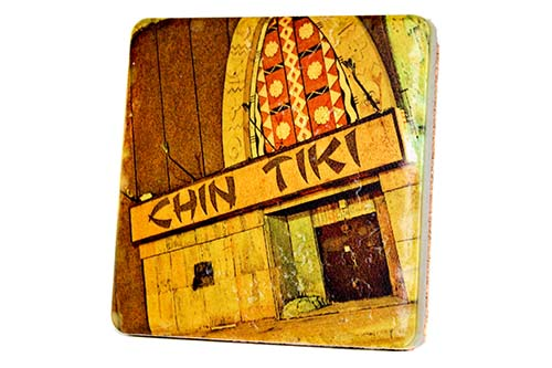 Chin Tiki Porcelain Tile Coaster