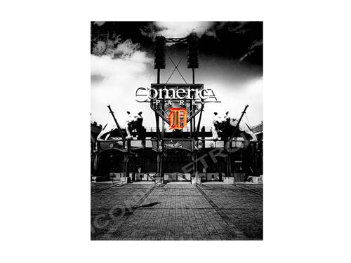 Comerica Park Black and White Luster or Canvas Print $35 - $430