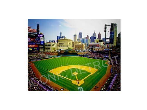 Comerica Park Field Luster or Canvas Print $35 - $430