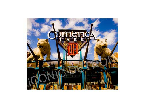Comerica Park Entrance Luster or Canvas Print $35 - $430