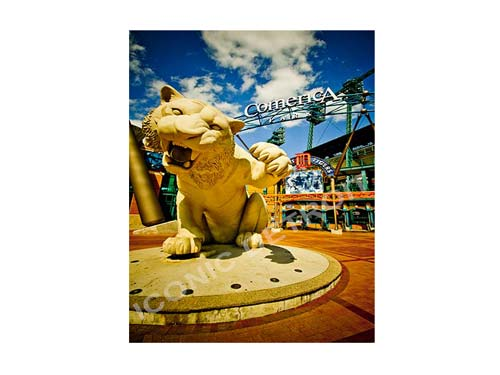 Comerica Park Tiger Luster or Canvas Print $35 - $430 - Pure Detroit
