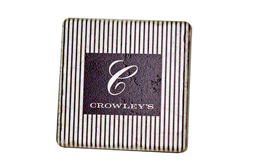 Vintage Crowley's Porcelain Tile Coaster - Pure Detroit
