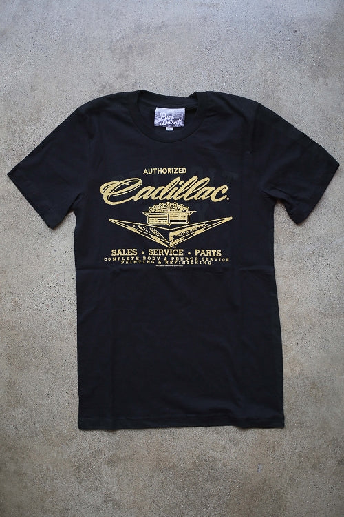 Cadillac Sales Service & Parts Tee / Yellow + Black / Unisex