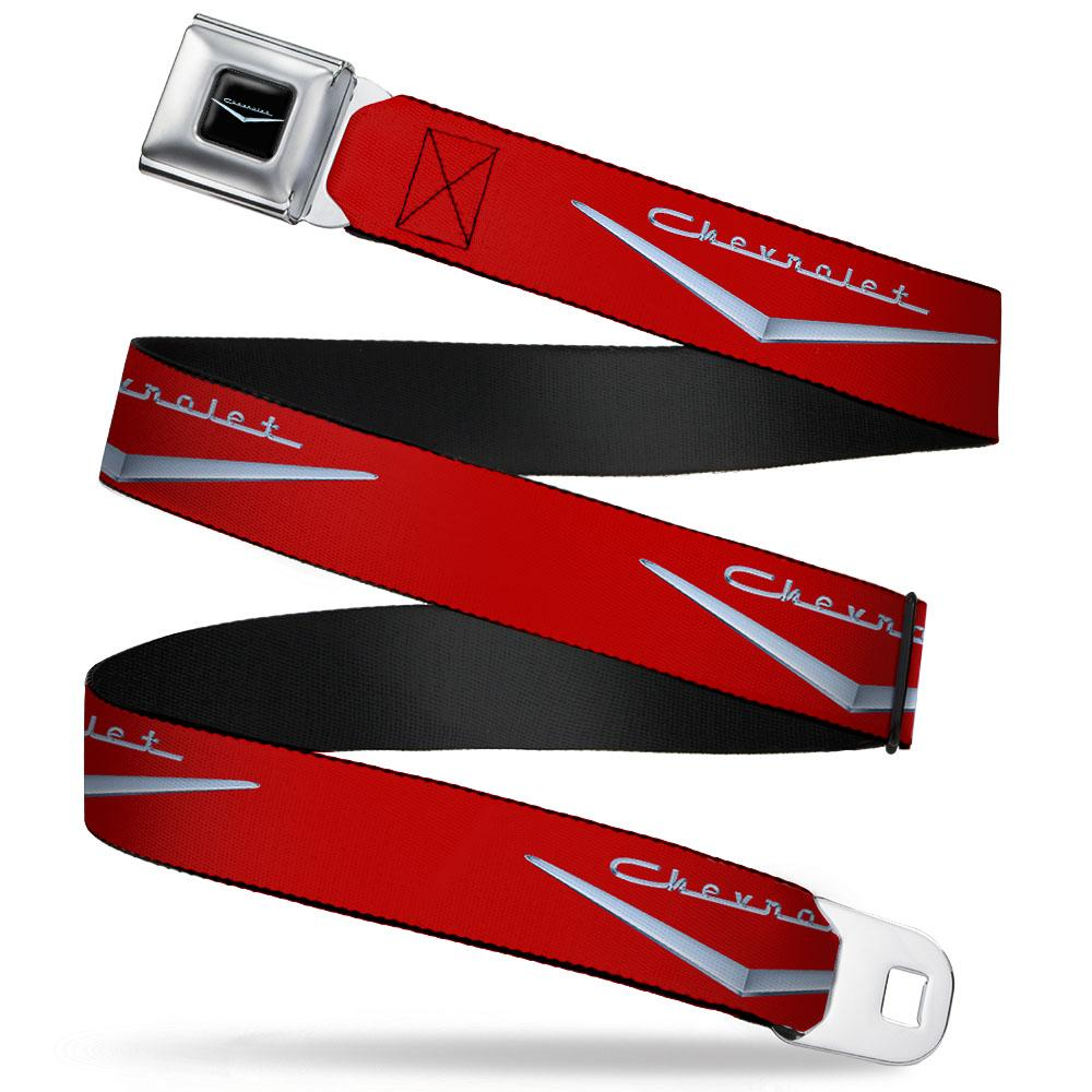 Chevrolet Retro Seatbelt Belt / Color Logo + Red Logo Webbing - Pure Detroit