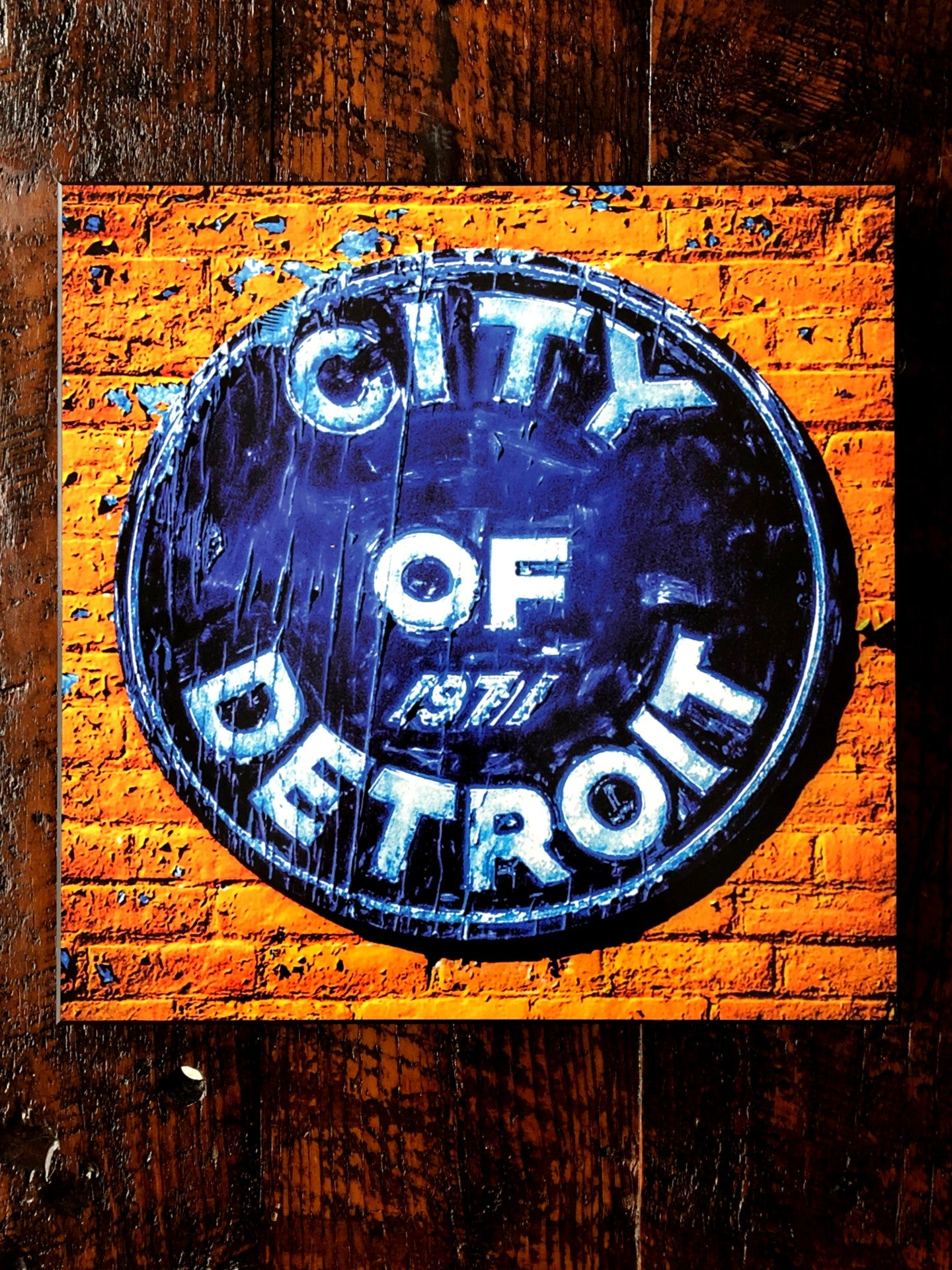City of Detroit Woodblock Print