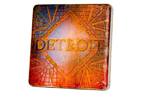 Detroit Decor Porcelain Tile Coaster - Pure Detroit
