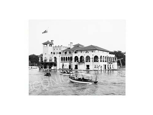 Historic Detroit Boat Club Black and White Luster or Canvas Print $35 - $430 - Pure Detroit