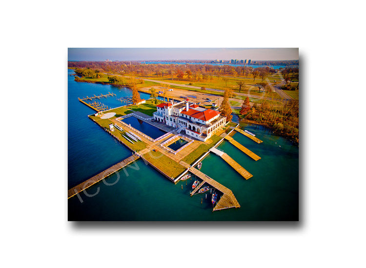 Detroit Boat Club Luster or Canvas Print $35 - $430 - Pure Detroit