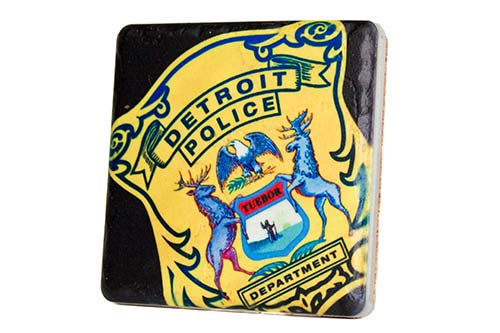 Detroit Police Department Porcelain Tile Coaster - Pure Detroit