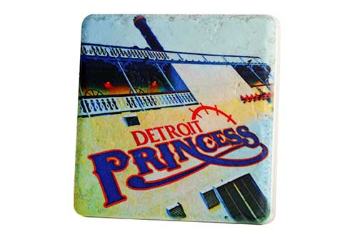 Detroit Princess Porcelain Tile Coaster - Pure Detroit