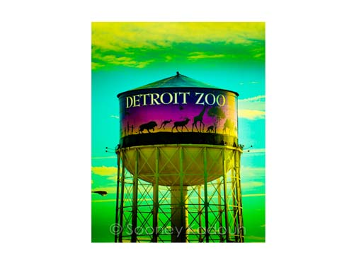 Detroit Zoo Tower Luster or Canvas Print $35 - $430 - Pure Detroit