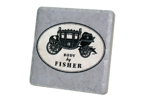 Body by Fisher Porcelain Tile Coaster - Pure Detroit
