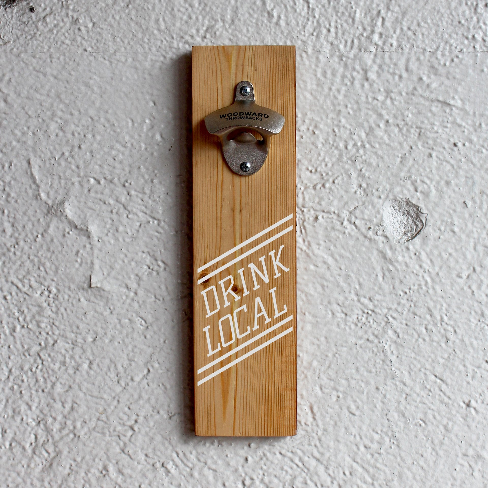 Reclaimed Bottle Opener - Drink Local