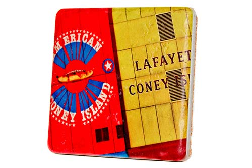 Coney Island Brotherhood Porcelain Tile Coaster - Pure Detroit