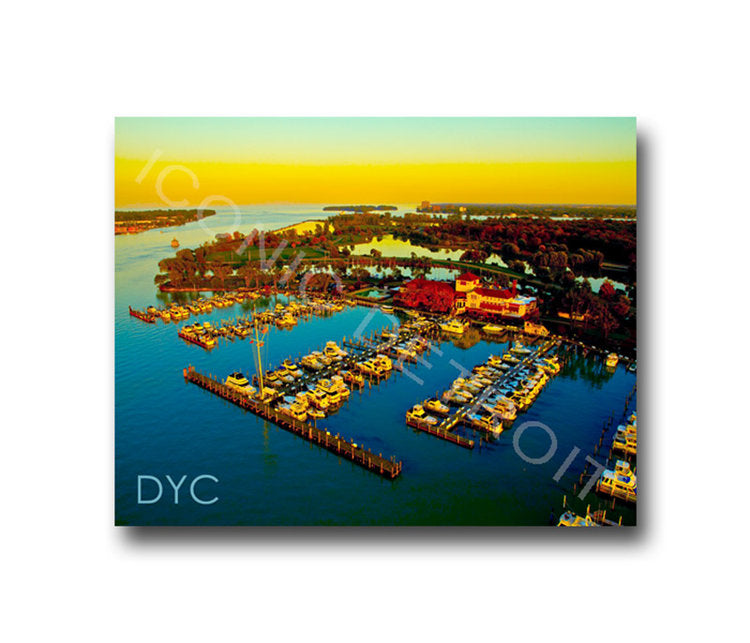 Detroit Yacht Club Aerial Luster or Canvas Print $35 - $430