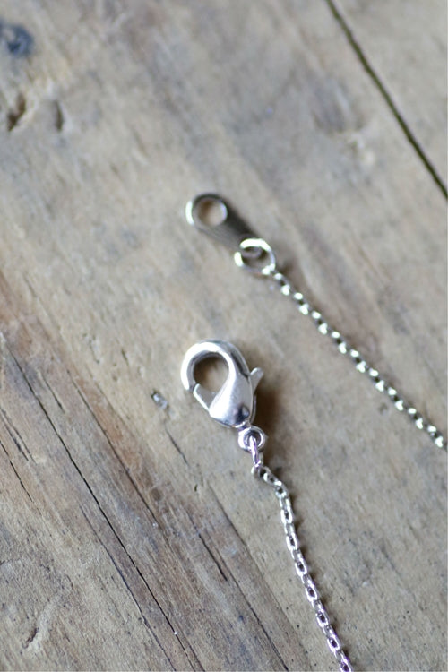 Dainty Detroit D Necklace / Silver - Pure Detroit