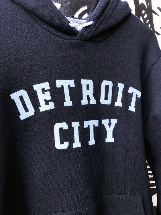 Detroit City Pullover / White + Black / Unisex