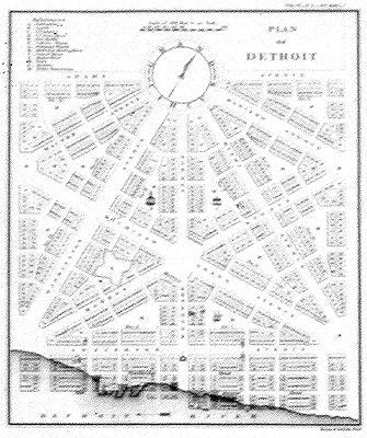 Detroit 1807 Historic Map Print - 9 3/4 x 8 1/4 inches - Pure Detroit