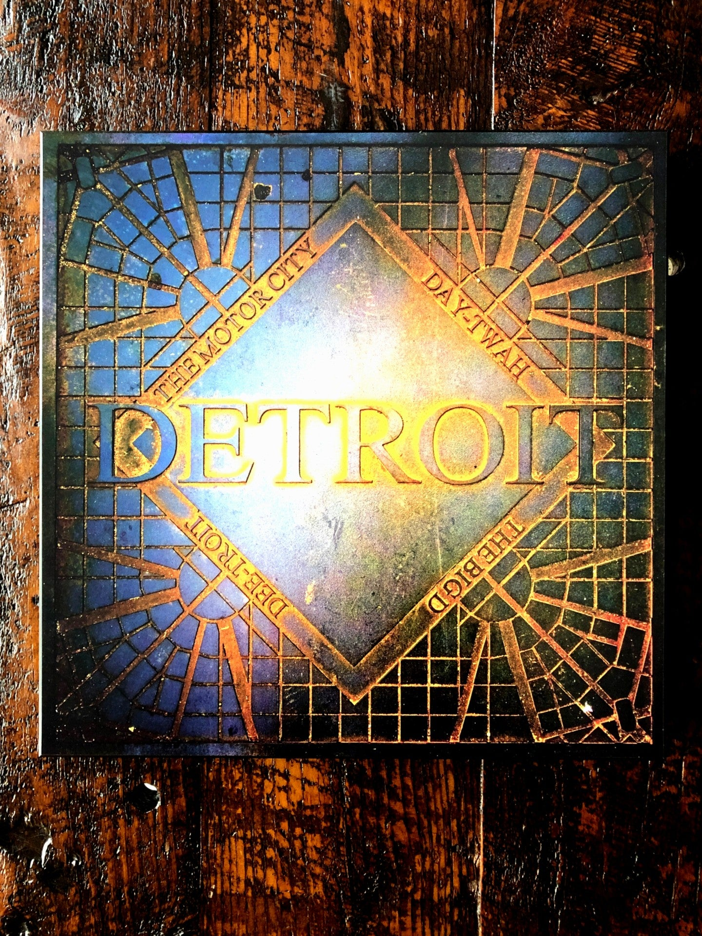 Detroit Decor Woodblock Print - Pure Detroit