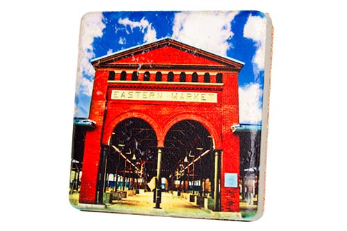 Eastern Market Porcelain Tile Coaster