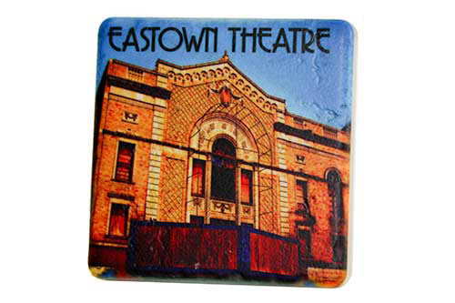 Eastown Theatre Porcelain Tile Coaster - Pure Detroit