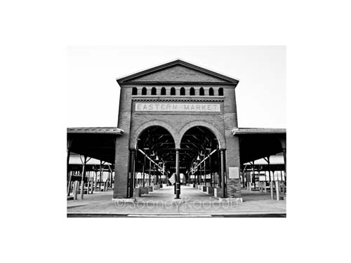 Eastern Market Black and White Luster or Canvas Print $35 - $430