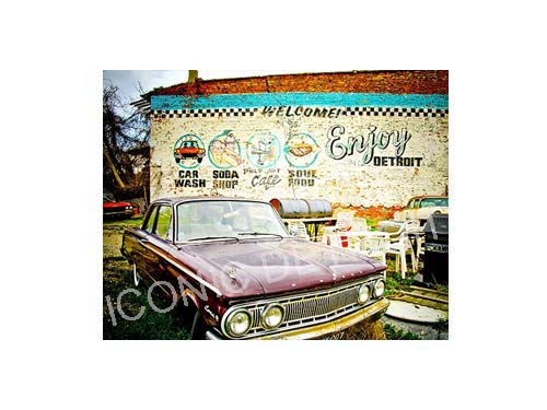Enjoy Detroit Mercury Luster or Canvas Print $35 - $430 - Pure Detroit