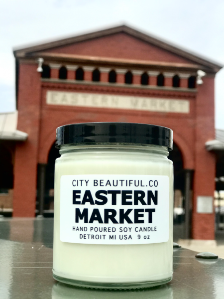 Detroit Eastern Market Candle - Hand Poured Soy Candle by City Beautiful . Co - 9oz.
