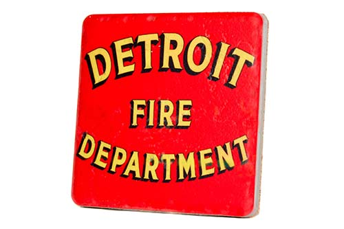 Detroit Fire Department Porcelain Tile Coaster - Pure Detroit