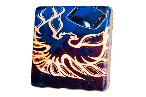 Pontiac Firebird Porcelain Tile Coaster - Pure Detroit